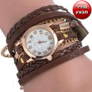 שעון רצועות בשילוב שרשרת גולדפילד
