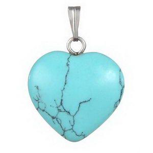 תליון דמוי אבן טבעית בצורת לב יפיפה