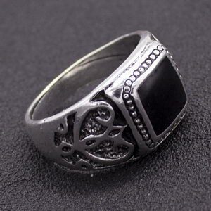 טבעת משולבת דמוי שנהב
