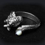 טבעת עם אבן עין החתול קריסובריל