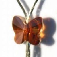 שרשרת עם אבן חן בצורת פרפר