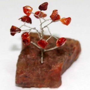 עץ השמחה עם אבני קארנליאן