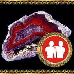 אבן מזל תאומים - אגת בוטסוואנה